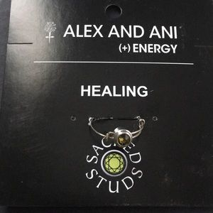 Alex and Ani healing ring. Size adjustable.